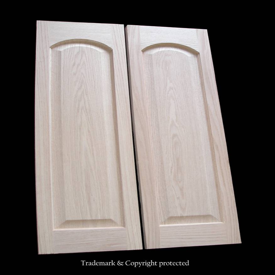 Oak Cafe Doors Raised Panel 2/6 Arch 30