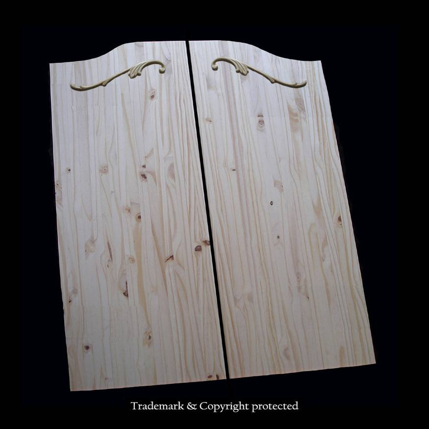 Knotty Pine Cafe Doors 3/0 Custom Scroll 36