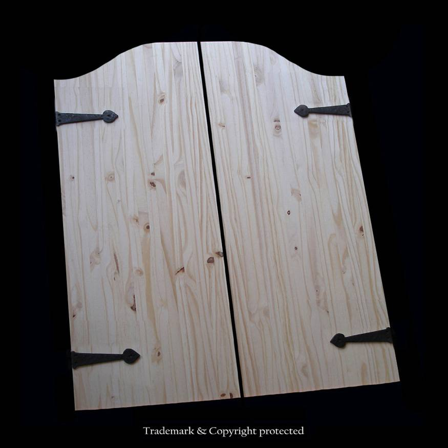 Knotty Pine Cafe Doors 2/6 Custom Iron  30