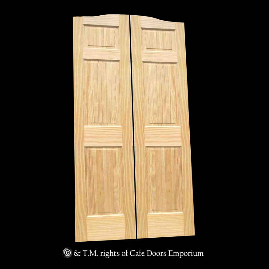 Full Length Cafe Doors Paneled Pine 36