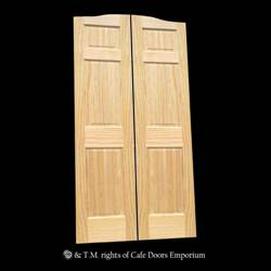 Full Length Cafe Doors Paneled Pine 36  opening 76  Tall from 289.99 : cafe door - pezcame.com