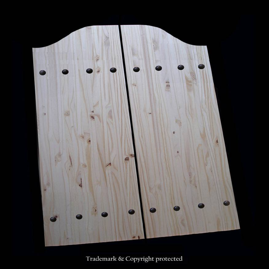 Knotty Pine Cafe Doors Custom 2/4 Rivet 28