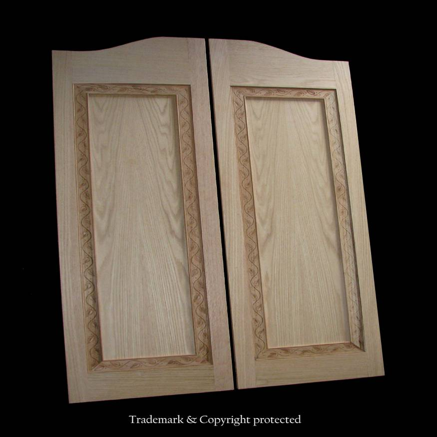 Custom Oak Cafe Door Flat Panel 3/0 Vine 36