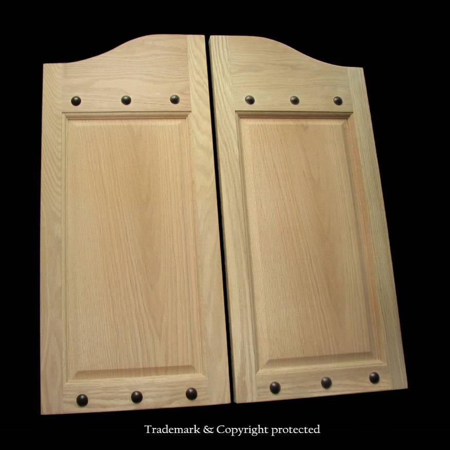 Oak Cafe Door Raised Panelled 2 0 Rivet 24 Quot Swinging