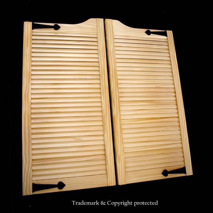 Pine Cafe Doors Louver 3/0 Custom 36\
